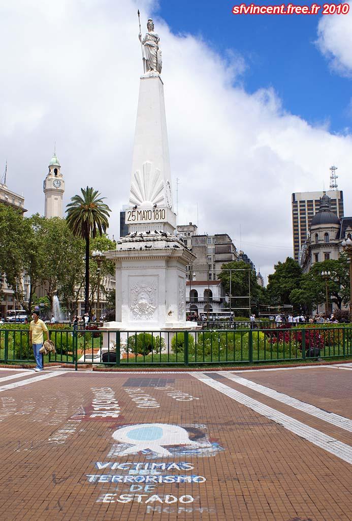 Buenos Aires Argentine Colonne De La Place De Mai