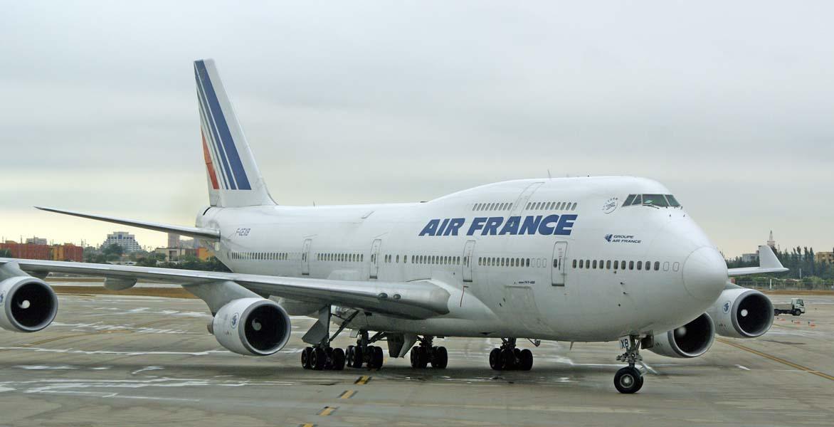 Le boeing 747 400 matricule f gexb vient d 39 arriver de for Interieur 747 air france