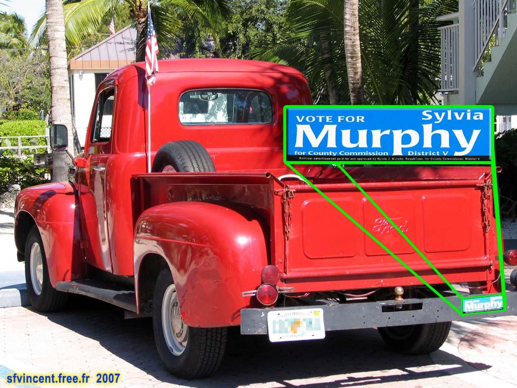 un autre exemple d 39 auto collant politique sur ce vieux pick up ford. Black Bedroom Furniture Sets. Home Design Ideas