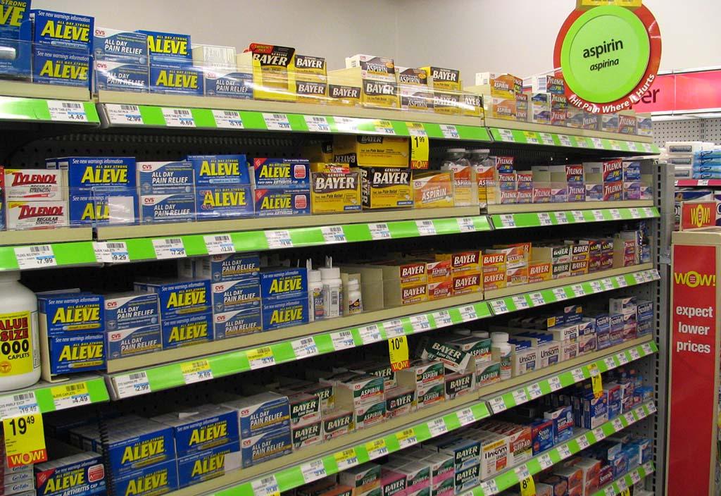 aspirine en pharmacie