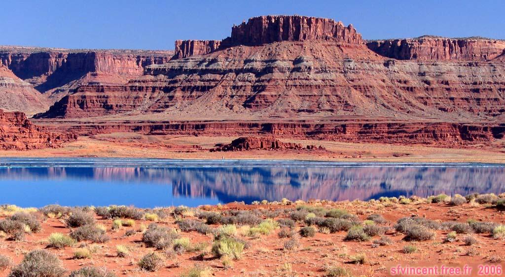 canyonlands a potash se trouvent des mines de potasse cette image montre un bassin de